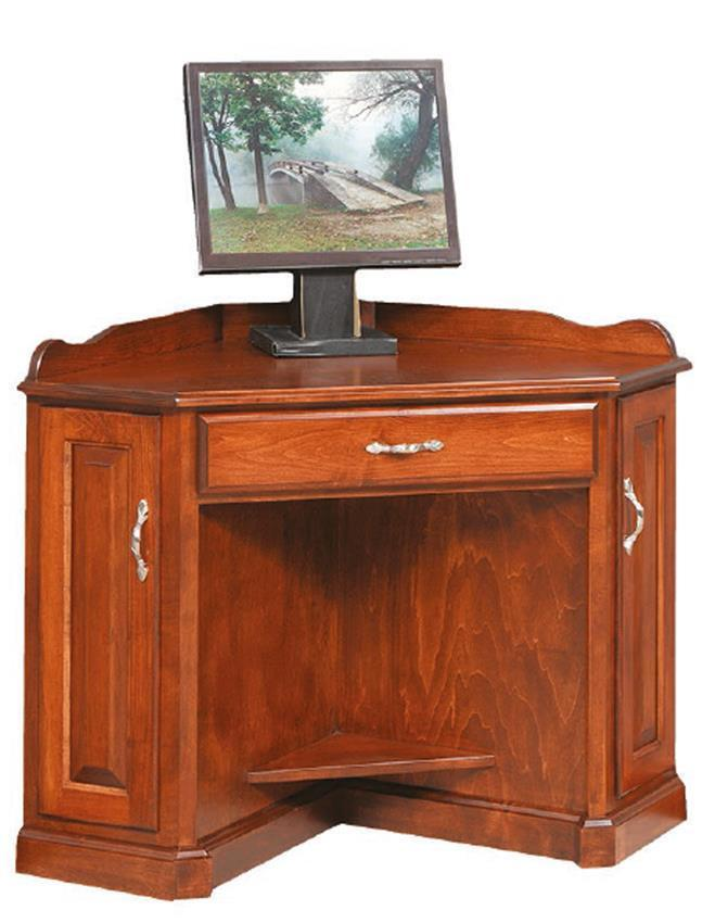 Solid Wood Corner Computer Armoire Desk From Dutchcrafters