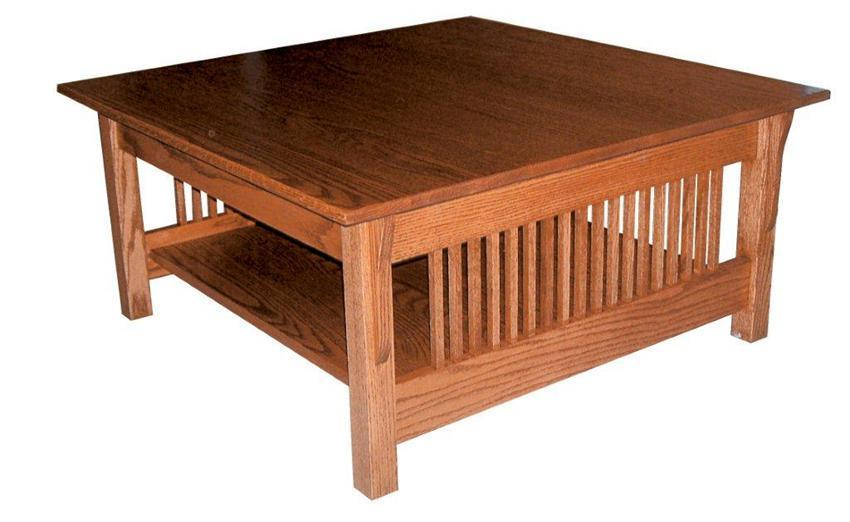 Prairie Mission Square Coffee Table From Dutchcrafters