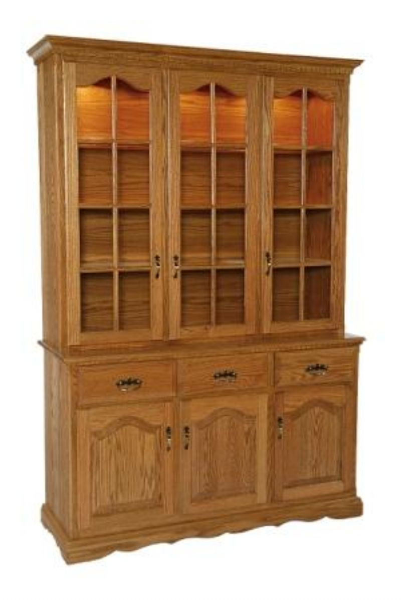 3 Door China Hutch From Dutchcrafters Amish Furniture