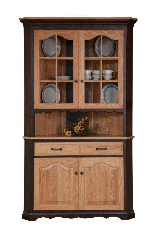 Solid Wood Corner Dining Hutch From Dutchcrafters Amish