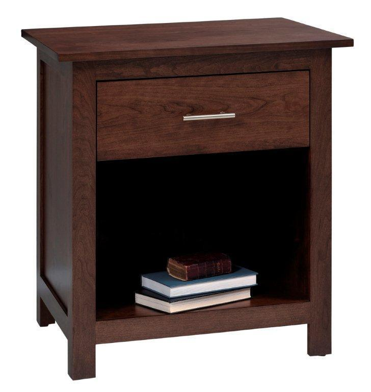 ashton night stand with one drawer from dutchcrafters amish furniture. Black Bedroom Furniture Sets. Home Design Ideas