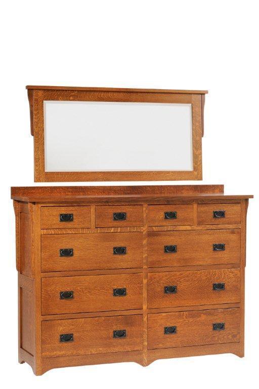 """Bedroom Furniture High Resolution: Amish San Juan Mission 66"""" High Dresser From DutchCrafters"""