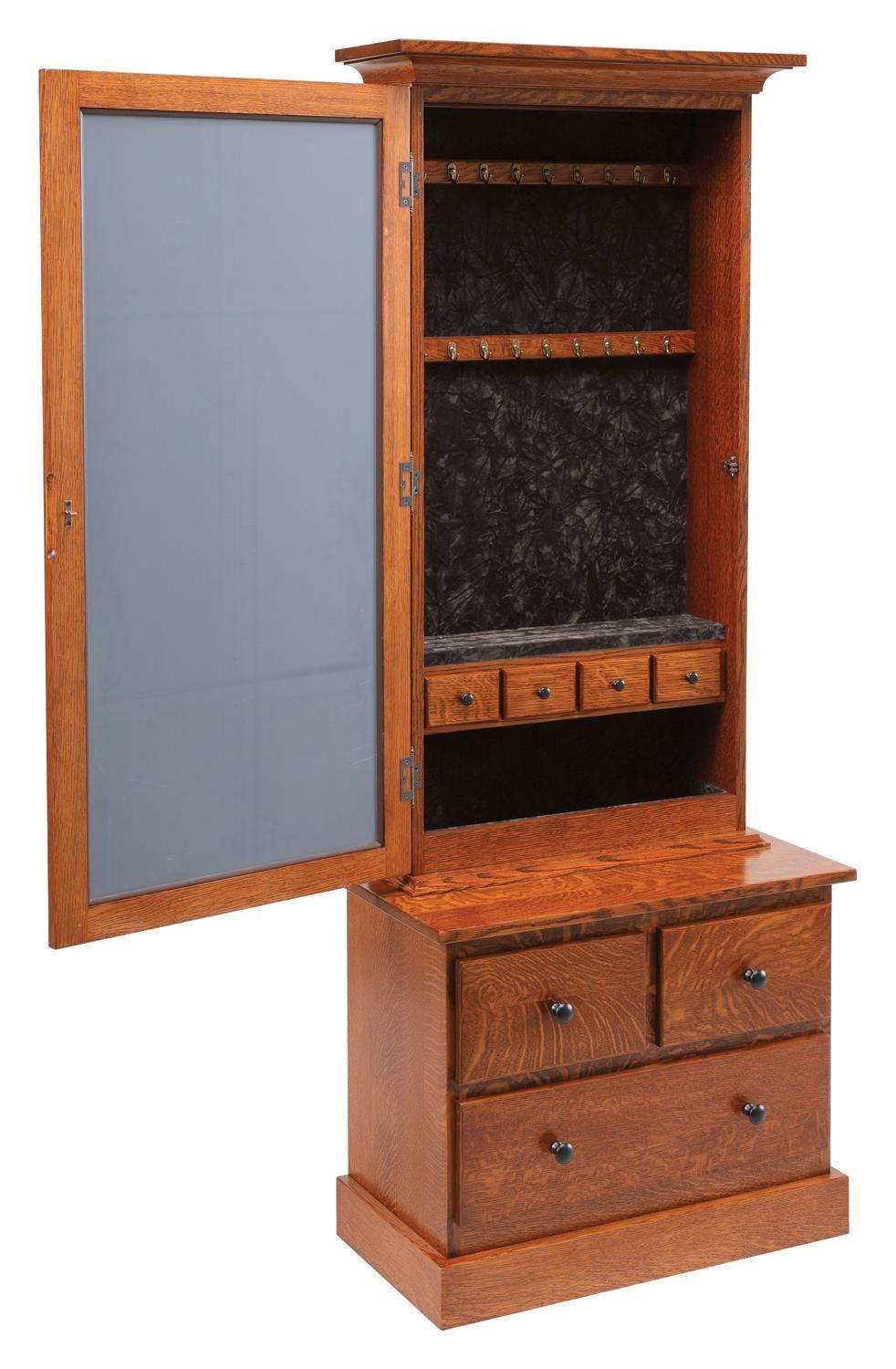 Mission Style Mirrored Jewelry Armoire from DutchCrafters ...