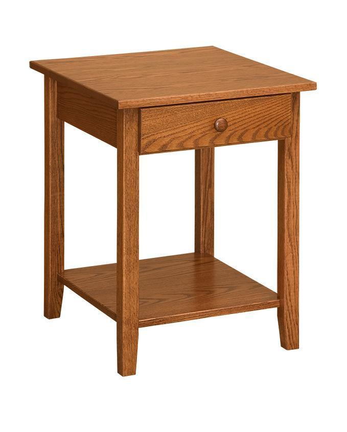 Open Shaker End Table From Dutchcrafters Amish Furniture - End Table With Drawer And Shelf Plans