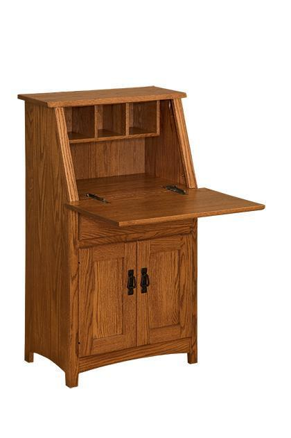 Amish Mini Secretary Desk By Dutchcrafters Amish Furniture
