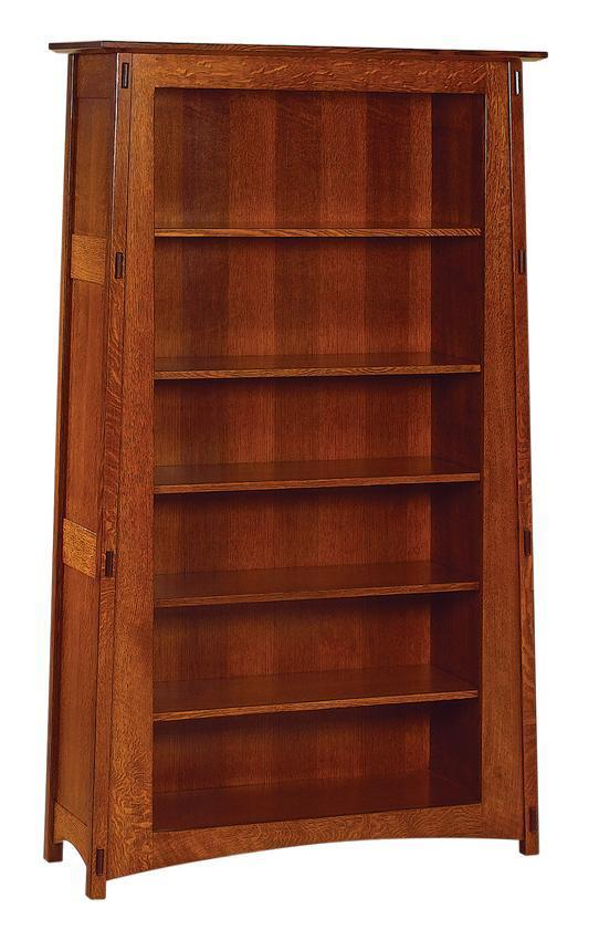 Amish Open Mccoy Mission Style Bookcase From Dutchcrafters