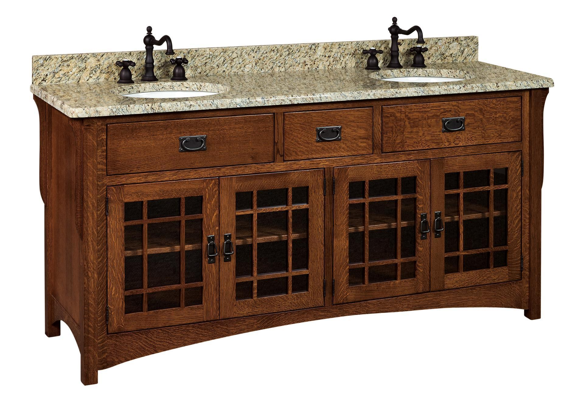 72 Henderson Mission Bathroom Double Vanity Cabinet From