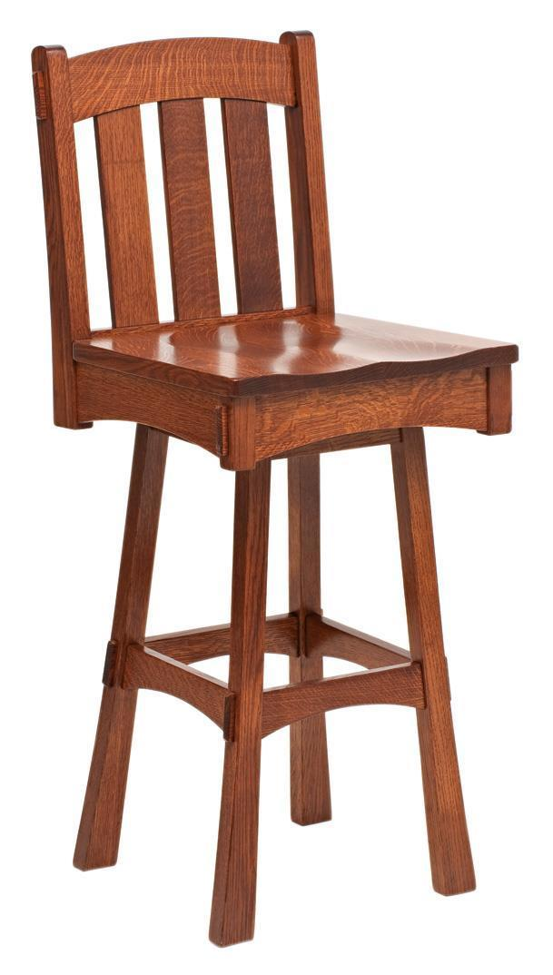 Modesto Mission Swivel Bar Stool From Dutchcrafters Amish