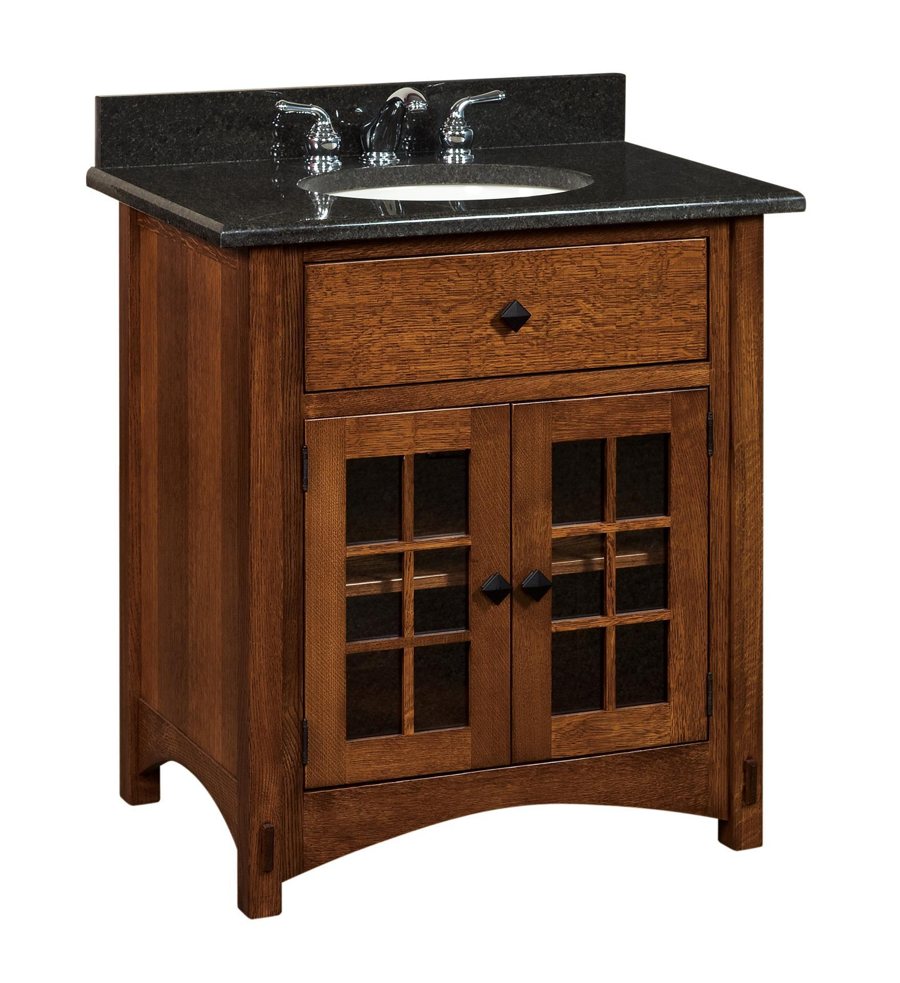 Sensational Amish Bathroom Vanity Solid Wood 33 Lucern Mission Sink Console Download Free Architecture Designs Embacsunscenecom