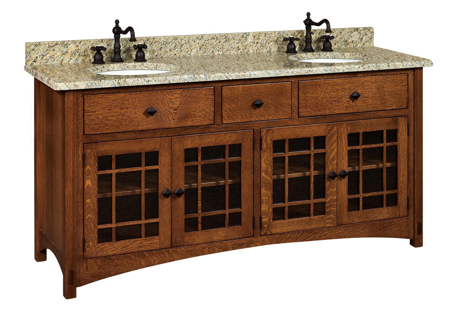 72 Norfolk Mission Vanity Cabinet From Dutchcrafters Amish Furniture