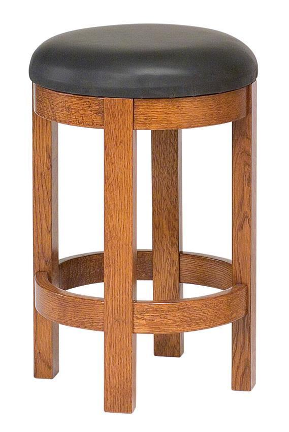 Barrel Bar Stool From Dutchcrafters Amish Furniture
