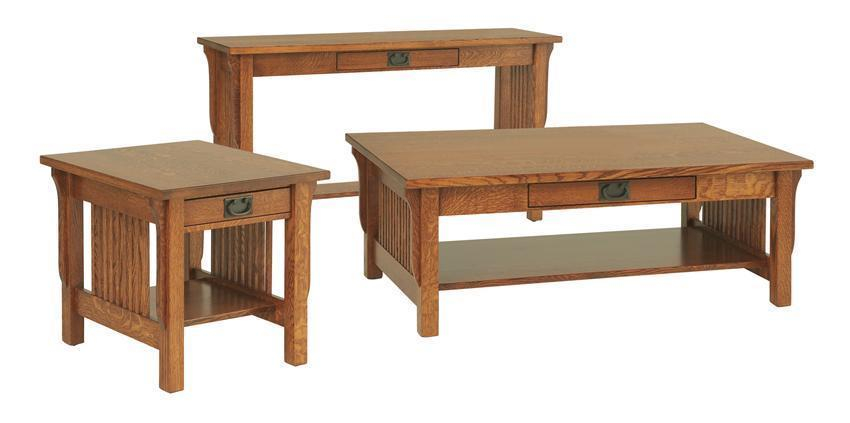 Amish lancaster mission sofa table with optional nesting bench watchthetrailerfo