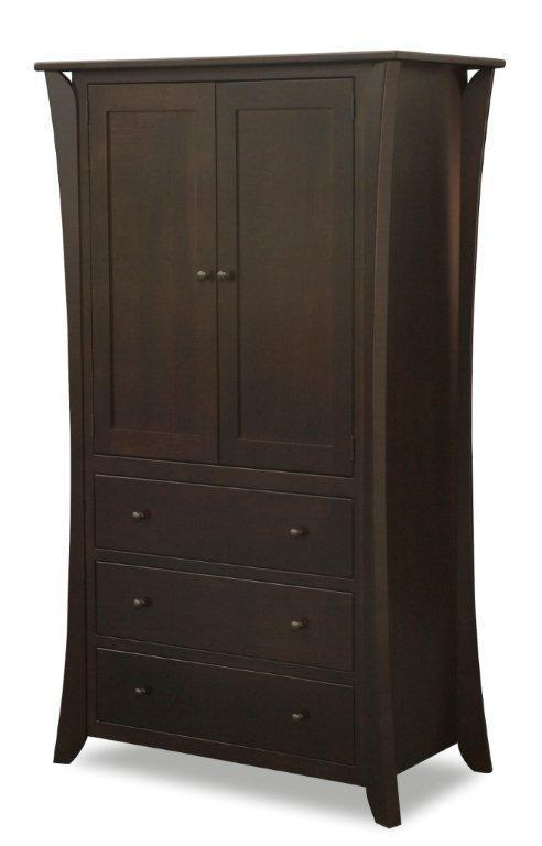 Amish Caledonia Shaker Armoire From Dutchcrafters Amish