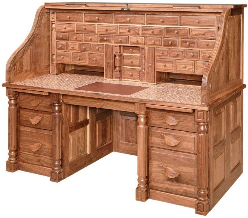 President S Style Large Roll Top Desk From Dutchcrafters Amish