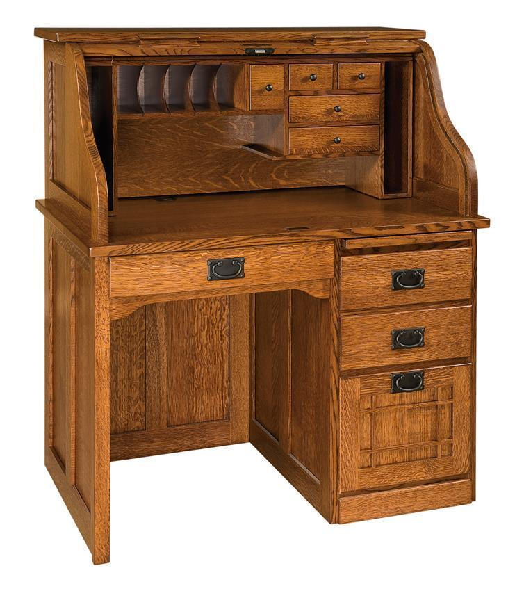 mission roll top desk from dutchcrafters amish furniture. Black Bedroom Furniture Sets. Home Design Ideas
