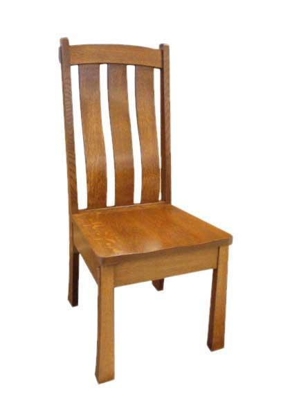 Oak Wood Mission Dining Chair From Dutchcrafters Amish