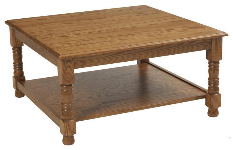 Traditional Occasional Square Coffee Table From