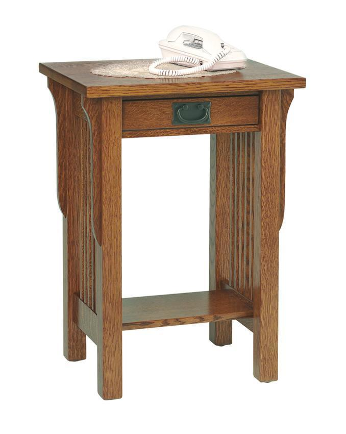 lancaster telephone table from dutchcrafters amish furniture 13428 | pid 13428 landmark telephone table 160