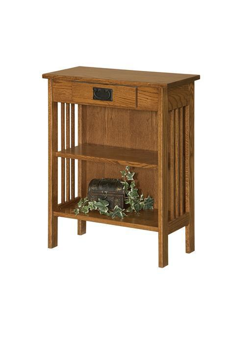 Mission Hall Console Bookcase From