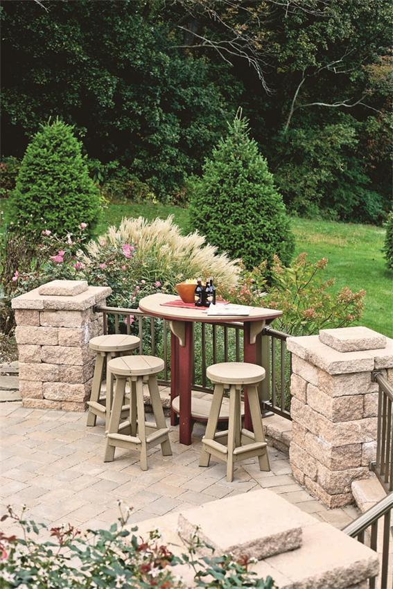 Poly Bar Set With Stools From Dutchcrafters Amish Furniture