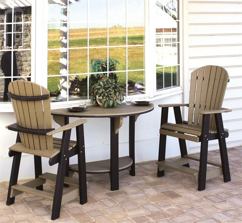 Amish Poly Patio Bar Set From Dutchcrafters Amish Furniture