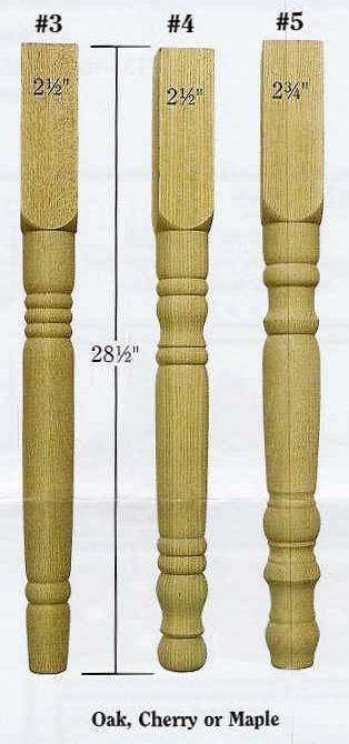 Unfinished Wood Farmhouse Table Legs From Dutchcrafters Amish