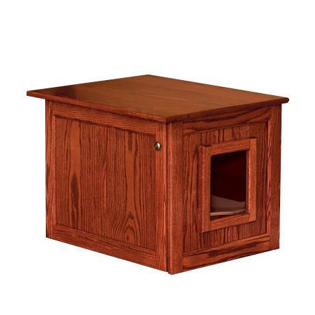Amish Hardwood Enclosed Cat Litter Box