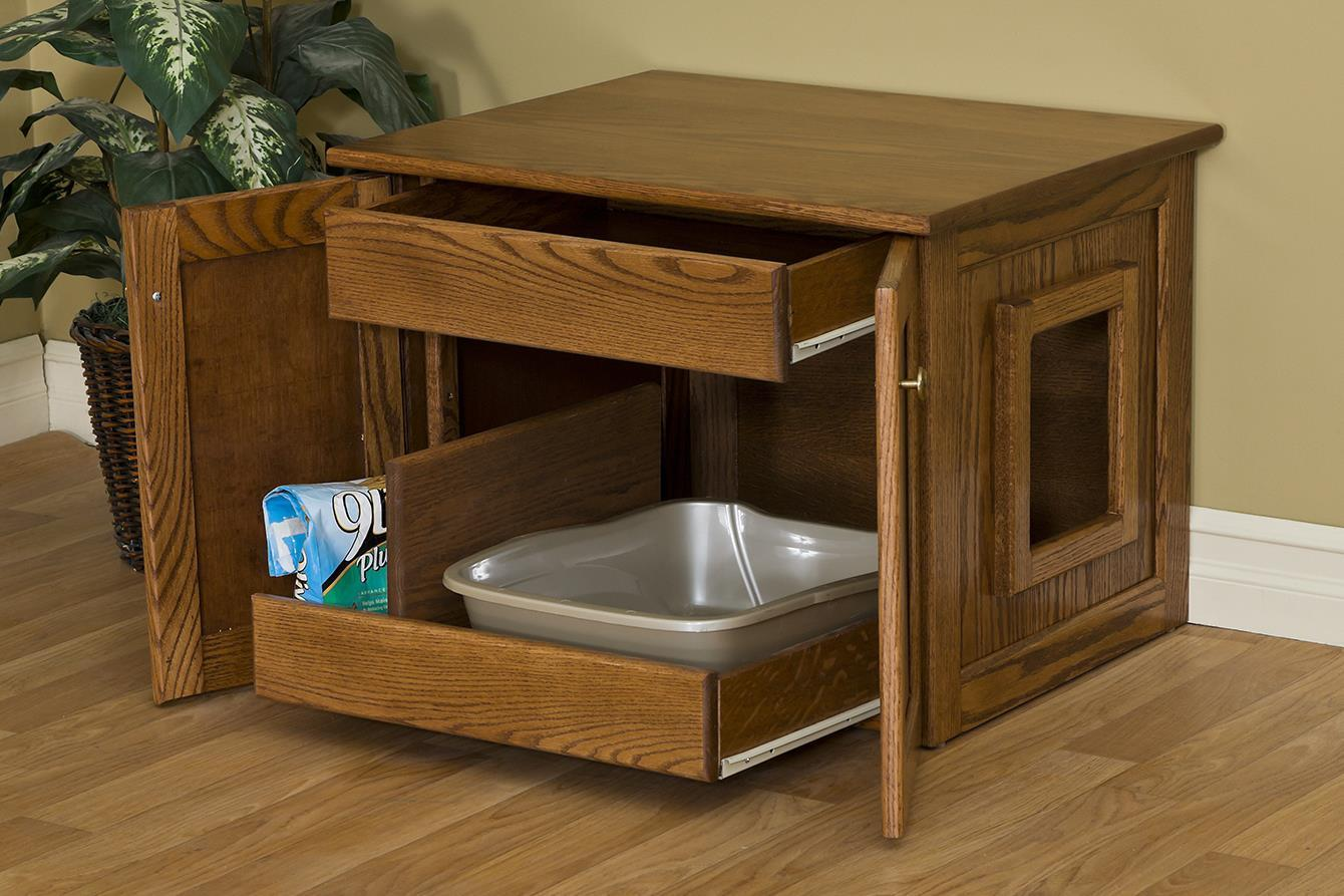 Enclosed Cat Litter Box By Dutchcrafters Amish Furniture