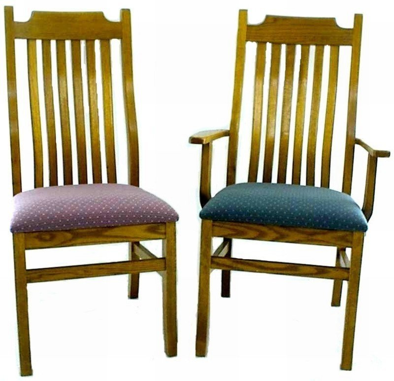 Oak Kitchen Chairs: Mission Oak Kitchen Chair From DutchCrafters Amish Furniture