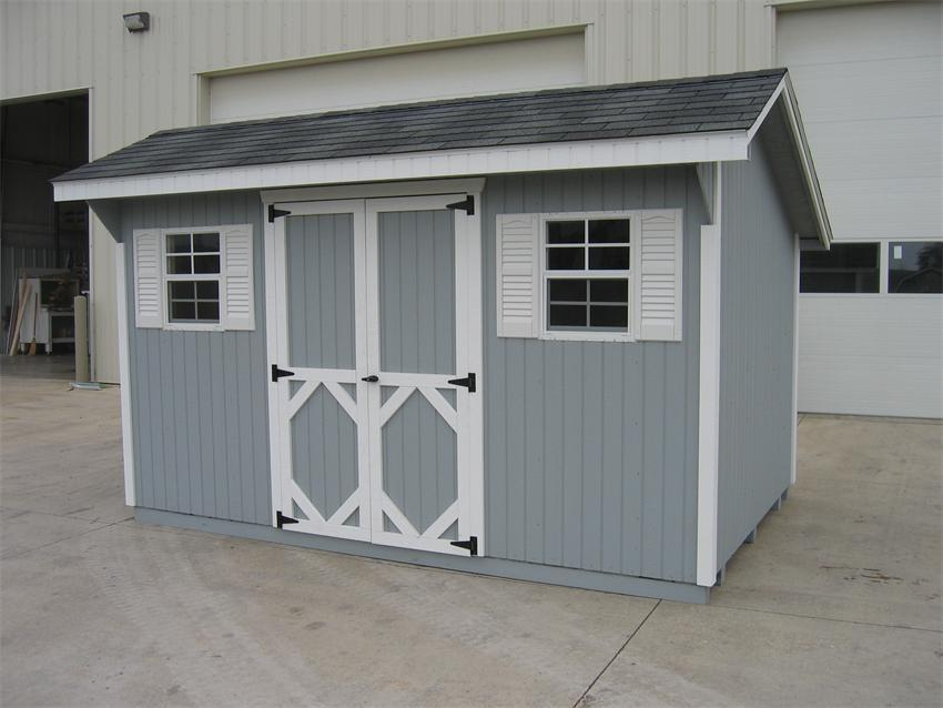 Amish Wood Classic Saltbox Shed From Dutchcrafters Amish