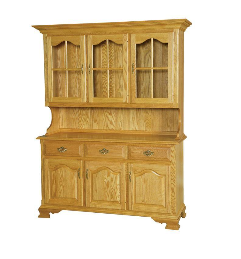 Amish Kitchen: Solid Wood Country Kitchen Hutch Form DutchCrafters Amish