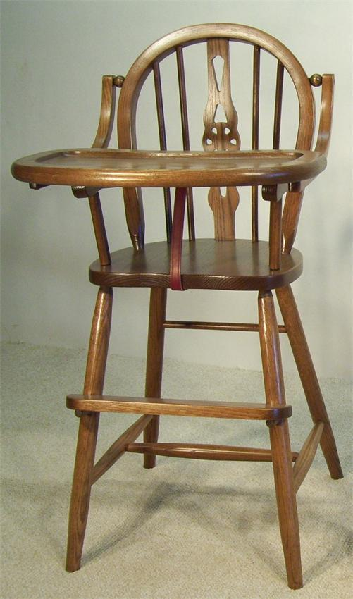 Windsor Wooden High Chair From Dutchcrafters Amish Furniture