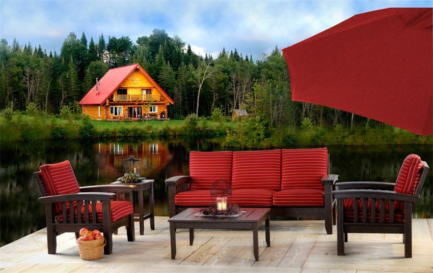 Cypress 6 Piece Patio Mission Sofa Set From Dutchcrafters