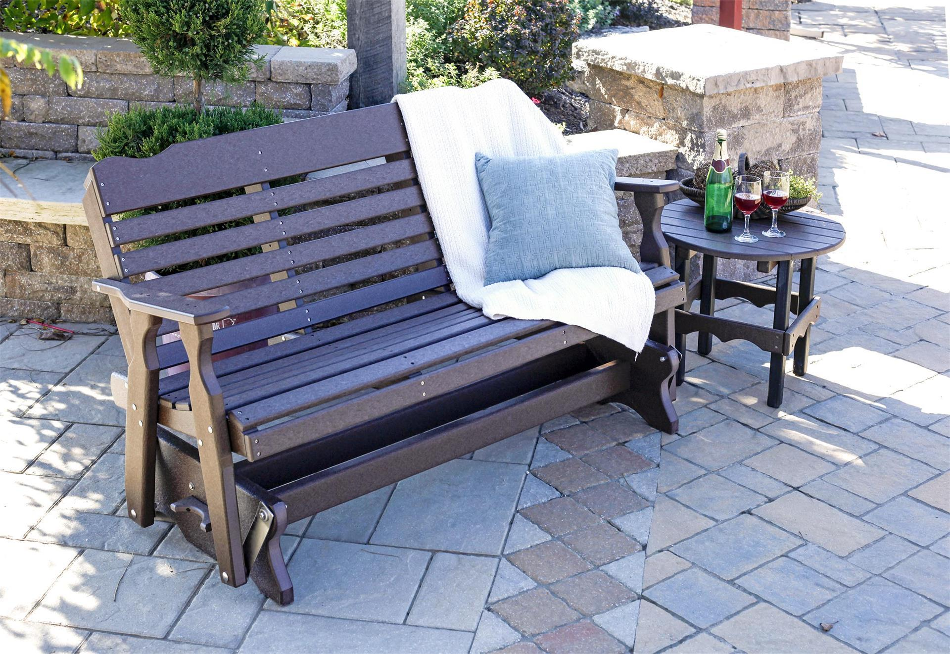 Picture of: Amish Poly Glider Bench From Dutchcrafters Amish Furniture
