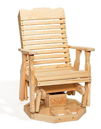 Wood Curve Back Swivel Glider Chair From Dutchcrafters