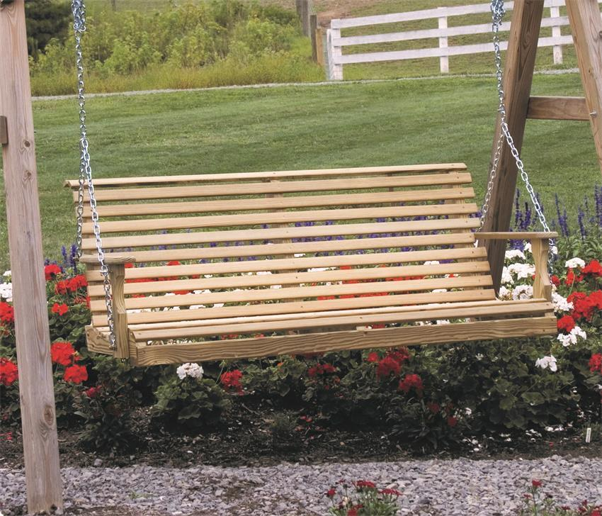 Luxcraft Wood Rollback Porch Swing By Dutchcrafters Amish