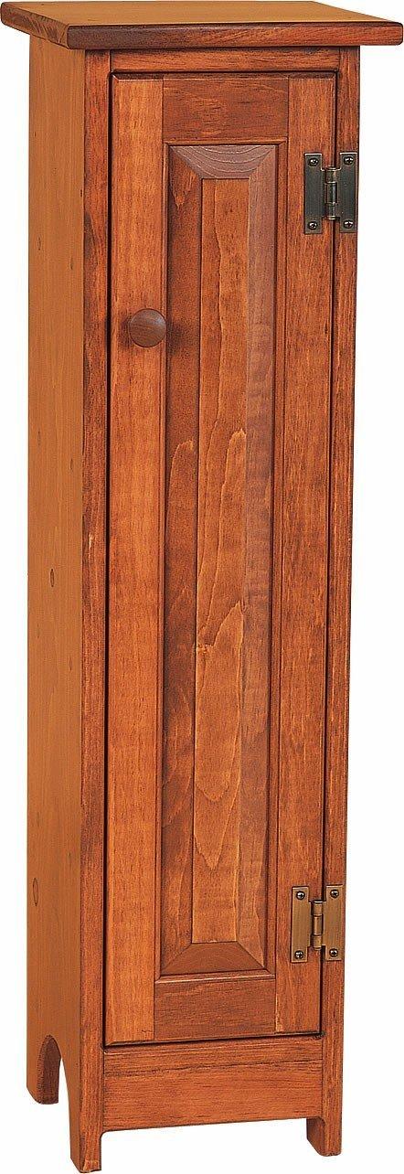 Amish Pine Wood Cd Storage Cabinet