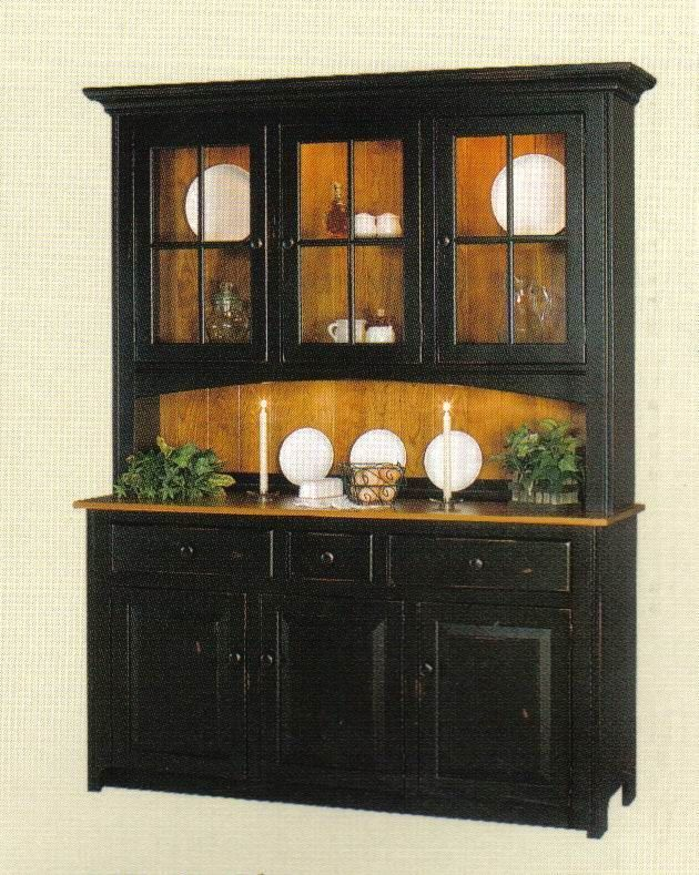 Shaker Three Door Hutch From Dutchcrafters Amish Furniture