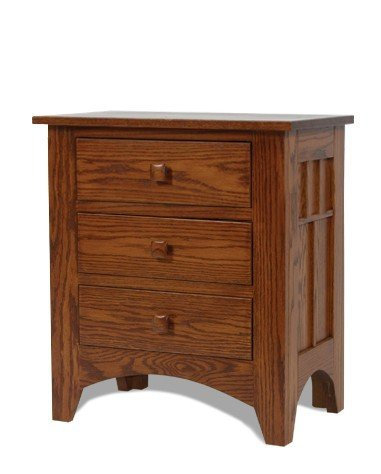Craftsman Mission 3 Drawer Night Stand From Dutchcrafters