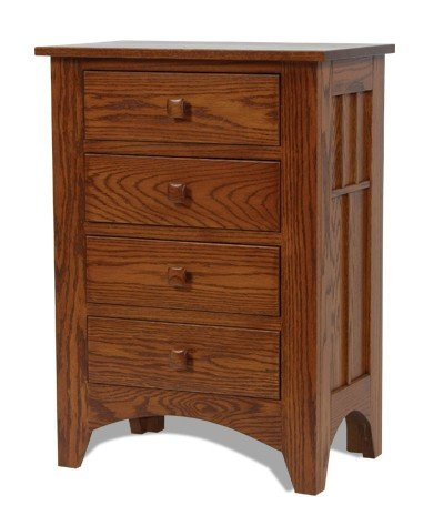 Craftsman Mission 4 Drawer Night Stand From Dutchcrafters