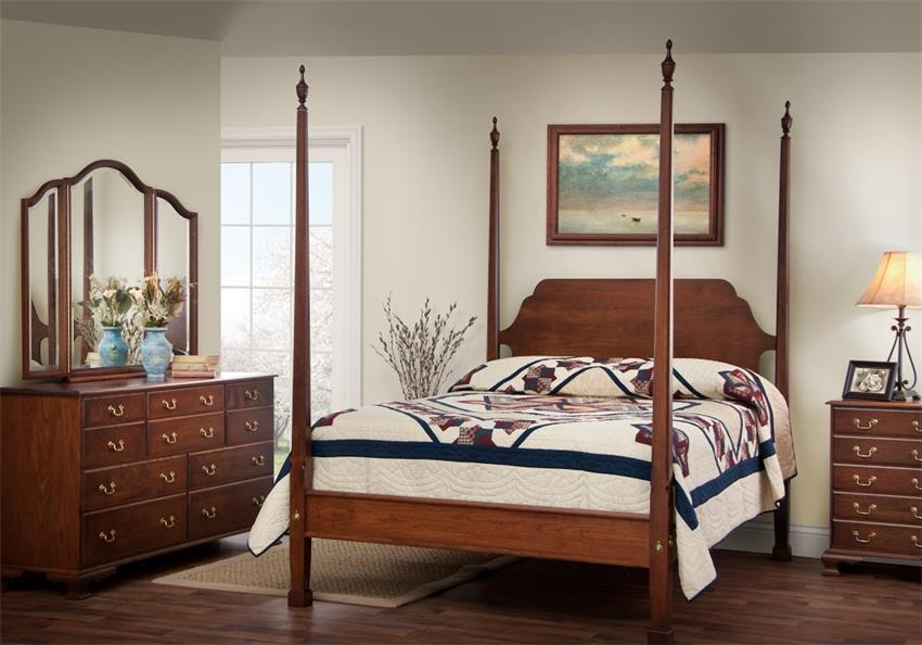 Colonial American Furniture Style Bedroom Set