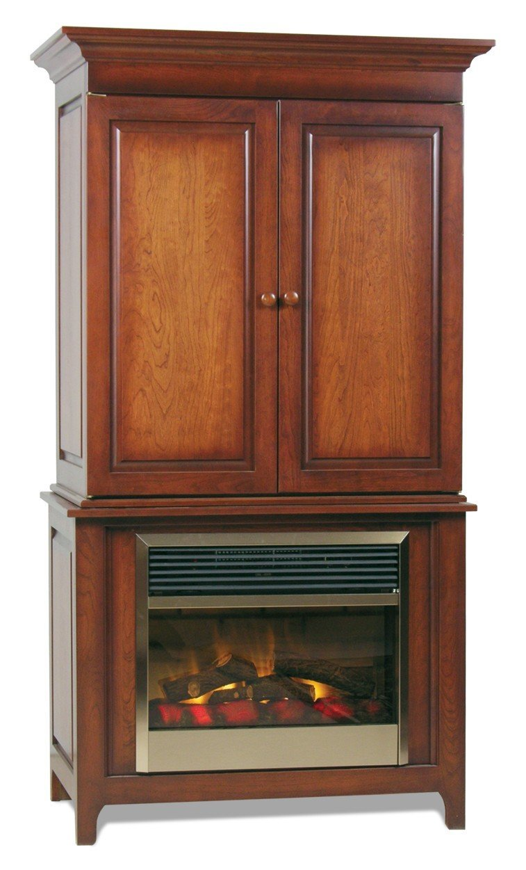 Shaker Electric Fireplace from DutchCrafters Amish Furniture