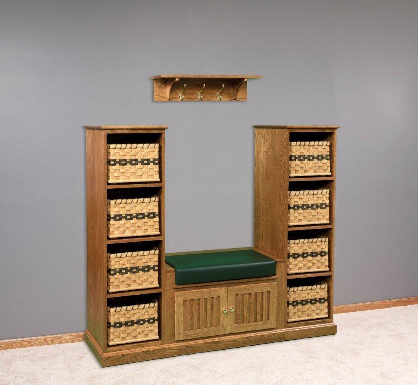 Entryway Storage Bench Set From DutchCrafters Amish Furniture