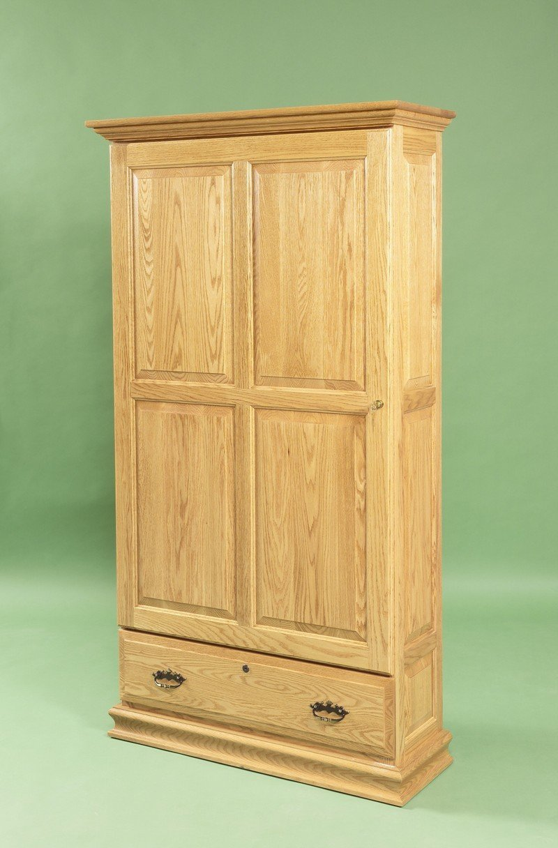 Amish Handcrafted Gun Cabinet with Sliding Door