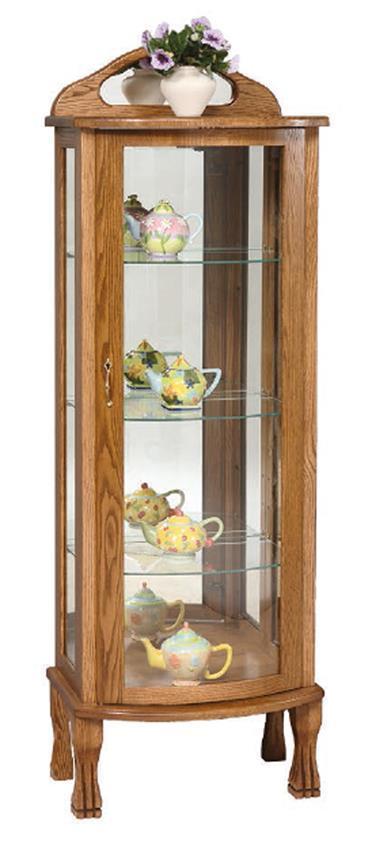 Rustic Cherry Rectangular Table Formal Dining Room Set: Amish Rectangular Curio Cabinet