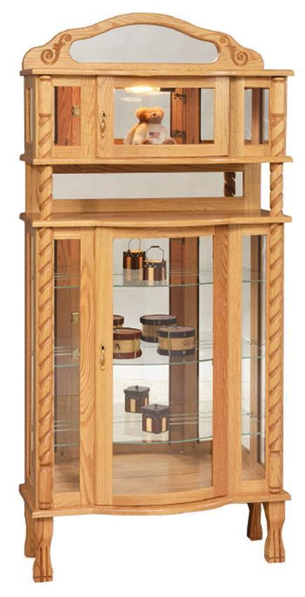 Deluxe Curio Cabinet With Claw Feet From Dutchcrafters