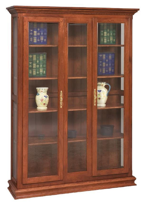 Solid Wood Bookcase With Double Doors From Dutchcrafters Amish