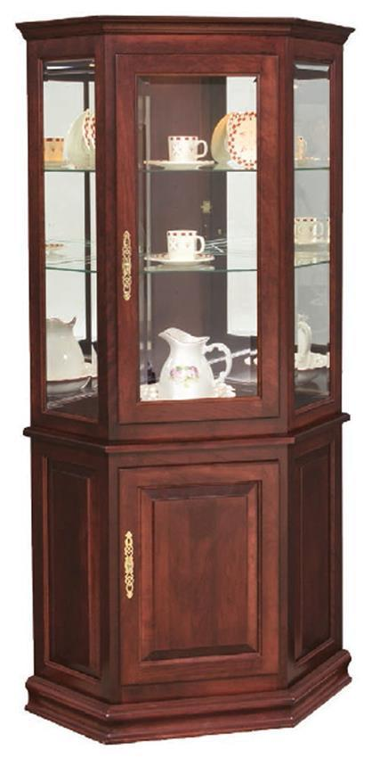 kitchen curio cabinet hardwood corner curio cabinet with enclosed base from 1052