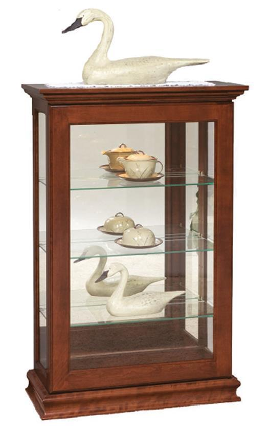 Small Sliding Door Console Curio Cabinet From