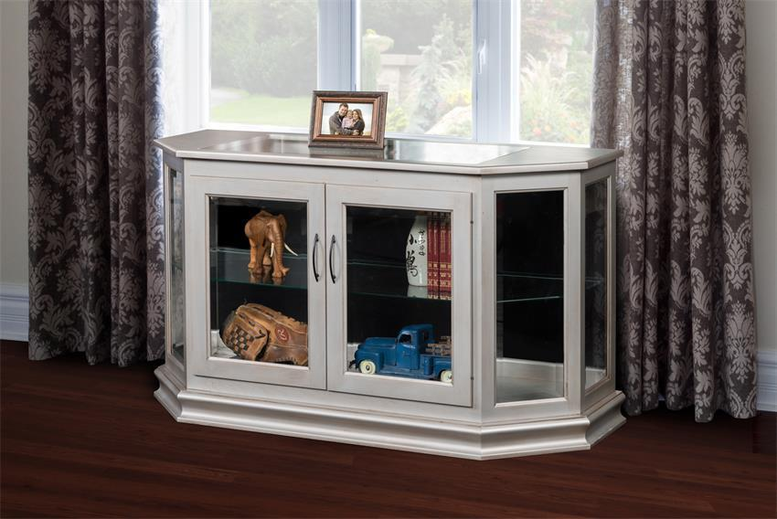 Solid Wood Console Curio Cabinet From